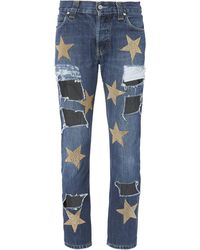 History Repeats - Ripped Star Patch Jeans - Lyst