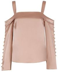 Exclusive For Intermix - Antonia Button Detail Top - Lyst