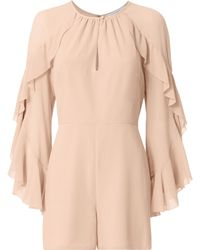 Exclusive For Intermix - Molly Ruffle Sleeve Romper - Lyst