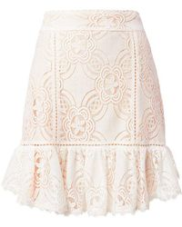 Flannel - Chantilly Lace Frill Skirt - Lyst