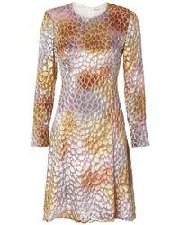 Adam Lippes - Painted Velvet Jacquard Dress - Lyst