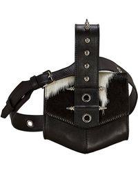OKHTEIN Haircalf Belt Bag - Black