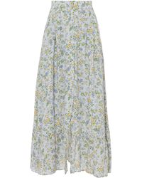 Nightcap - Button Front Midi Floral Skirt - Lyst