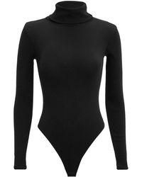 RE/DONE - Ribbed Turtleneck Bodysuit - Lyst