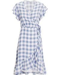 Rails - Brigitte Gingham Ruffled Dress Blue/white L - Lyst