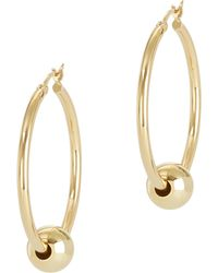 Argento Vivo - Gold Ball Hoops - Lyst