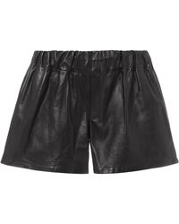 Rag & Bone - Black Leather Shorts - Lyst