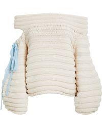 Hellessy - Bahia Sweater White/blue S - Lyst