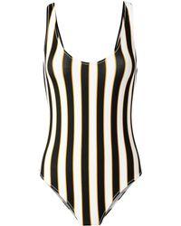 Caroline Constas Mer - Aristi Scoop Back Striped One Piece Swimsuit - Lyst
