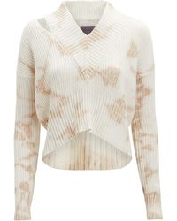 6f732a10a442 Lyst - Zoe Jordan Knitlab Hawking Cold-shoulder Sweater in White