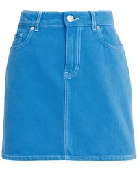 Ganni - Washed Lapis Blue Denim Skirt - Lyst