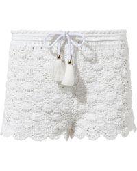 Poupette - Rania Crochet Boxer Shorts - Lyst