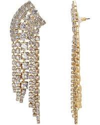 Elizabeth Cole - Fringed Crystal Earrings - Lyst