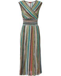 Missoni - Striped Lurex Midi Dress - Lyst