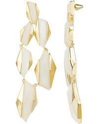 Noir Jewelry - Geometric Drop Earrings - Lyst