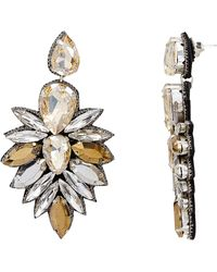 Suzanna Dai - Cuzco Champagne Crystal Drop Earrings - Lyst