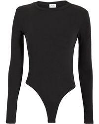 RE/DONE - Long Sleeve Bodysuit - Lyst