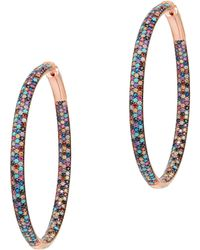 Nickho Rey - Multicolor Tire Hoop Earrings - Lyst