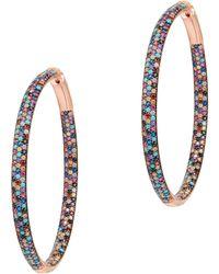 Nickho Rey | Multicolor Tire Hoop Earrings | Lyst