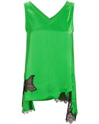 Helmut Lang - Deconstructed Lace Slip Top - Lyst