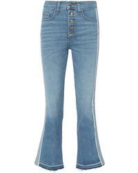 Veronica Beard - Carolyn Baby Blue Tuxedo Stripe Jeans - Lyst