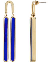 Colette Malouf - Reflection Cobalt Swing Earrings - Lyst