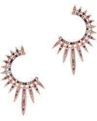 Nickho Rey - Statement Sunburst Earrings - Lyst