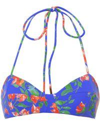 Caroline Constas Mer - Kali Floral Bikini Top - Lyst