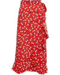 437ef452e19466 Faithfull The Brand - Celeste Wrap Skirt Jasmine Floral Print - Lyst