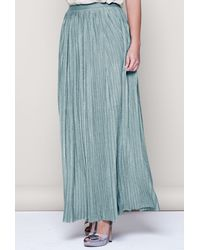 Intimissimi - Pleated Lamé And Knit Long Skirt - Lyst