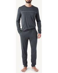 Intimissimi Men's Full-length Pajamas In Micromodal - Gray