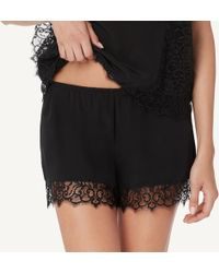 Intimissimi | Lace And Silk Crêpe Shorts | Lyst