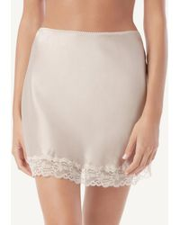 Intimissimi - Silk And Lace Skirt - Lyst