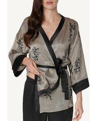 Intimissimi - Chic Frou-frou Silk Kimono - Lyst