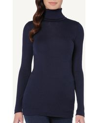 Intimissimi - Wool And Silk Long-sleeve High-neck Tubular Top - Lyst