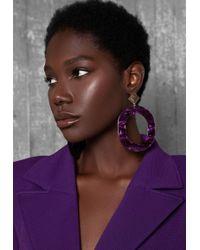 Ivyrevel - Oval Earrings Purple Mix - Lyst