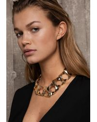 Ivyrevel - Flat Chain Necklace Gold - Lyst