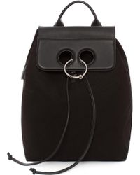 JW Anderson - Black Canvas Pierce Backpack - Lyst