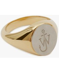 JW Anderson - Logo Engraved Ring - Lyst