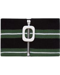 JW Anderson - Emerald Stripe Neckband - Lyst