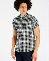 Ben Sherman - Mix Texture Check Shirt Long - Lyst