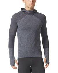 On - Men's Adidas Climaheat Primeknit Lg Sleeve Hoodie - Lyst