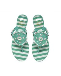 Jack Rogers - Striped Georgica Jelly Sandal - Lyst