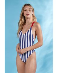 8473a4314cfbc Jack Wills - Clifton Strappy Low Back Swimsuit - Lyst