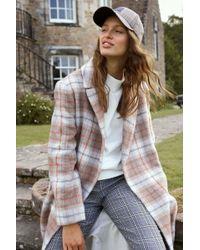 Jack Wills - Blythe Long Checked Robe Coat - Lyst