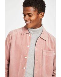 Jack Wills - Berton Cord Overshirt In Pink - Lyst