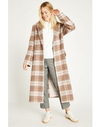 Jack Wills - Blythe Long Checked Robe Coat - Lyst
