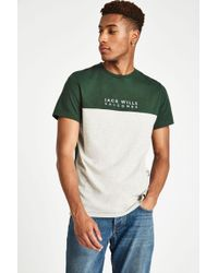 Jack Wills - Westmore Colour Block T-shirt - Lyst