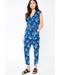 Jack Wills - Greencroft Floral Wrap Front Jumpsuit - Lyst