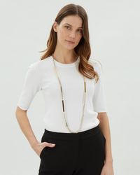 Jaeger | Katie Skinny Sparkle Station Necklace | Lyst